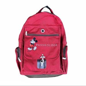 Rare Annual Passholder Mickey Mouse Red Backpack